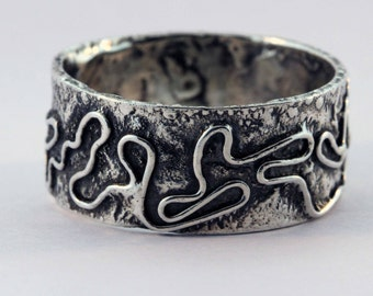 Reticulated Fused band ring - Size 11 3/4
