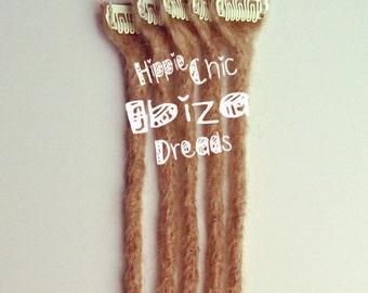 5   Short Clip-in Human hair dread extension - Choose your colour