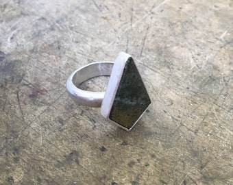 Pyrite Ring - Sterling Silver Size 9