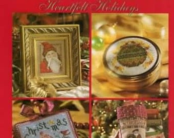 A Christmas Heartfelt Holiday New Hardcovered Cross Stitch Pattern Book  BH&G