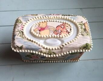 Winnie the Pooh, Wipe Case, Wipes Case, Baby Wipe Case, Nursery Wipe Case, Baby Wipes Case,Wipes Holder,Nursery Decor, Baby Gift, Babyshower