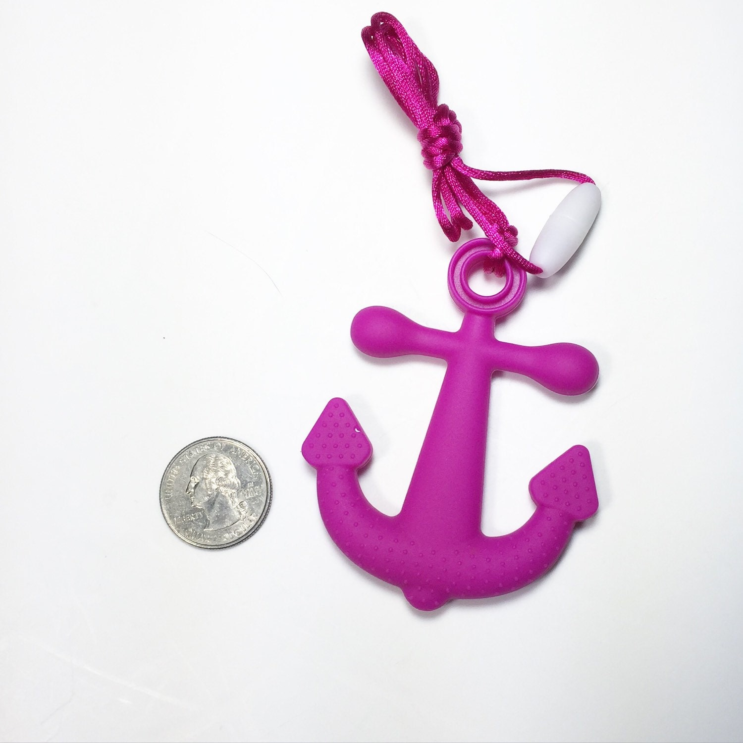Large anchor teether silicone pendant diy teething for Baby jewelry near me