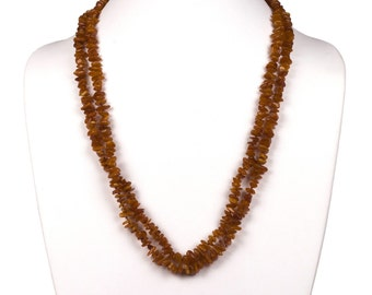 Baltic Amber Chip Bead Flapper Necklace