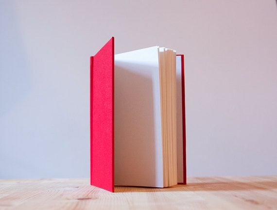 Fabric Hardcover Book : Red book cloth hardcover notebook sketchbook journal