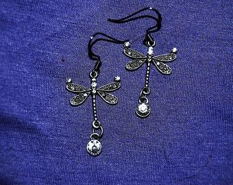Dragonfly Dew Drop Earrings