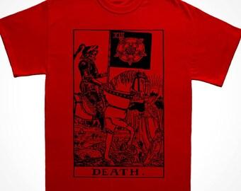 Death Tarot Card Occult T Shirt