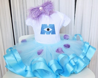 Monsters Inc Costume - Monsters Tutu - Sully Costume - Blue Monster Tutu - Monster Costume - Halloween Tutu - Halloween Costume - Girls Tutu
