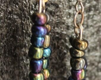 Black Shimmering Earrings