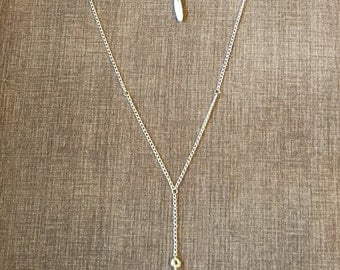 Druzy stone necklace beautiful copper chain