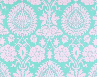 Amy Butler Love Bali Gate in pink,  aqua  -  cotton quilting fabric by the yard