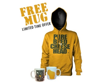 cheeshead shirt and mug combo wisconsin gift idea football deal special on sale featured item discounted green bay packers t-shirts for fans