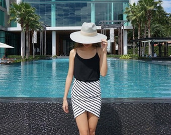 Stripe mini skirt