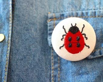 Ladybug Stitched Pin
