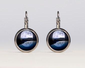 Full moon Earrings 16mm in diameter