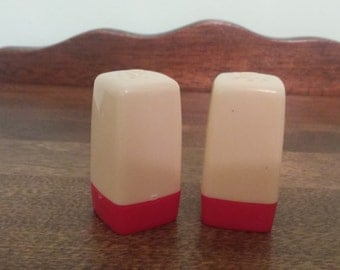 "Mod Salt and Pepper Shakers 2"" tall"