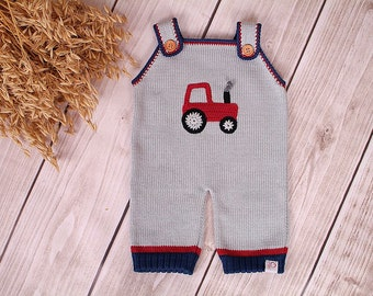 Baby romper suit carrier trousers tractor