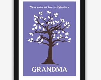 Family Tree Print, Gift for Grandma, Personalized gift, Mothers Day Gift, Anniversary gift, Grandmother gift