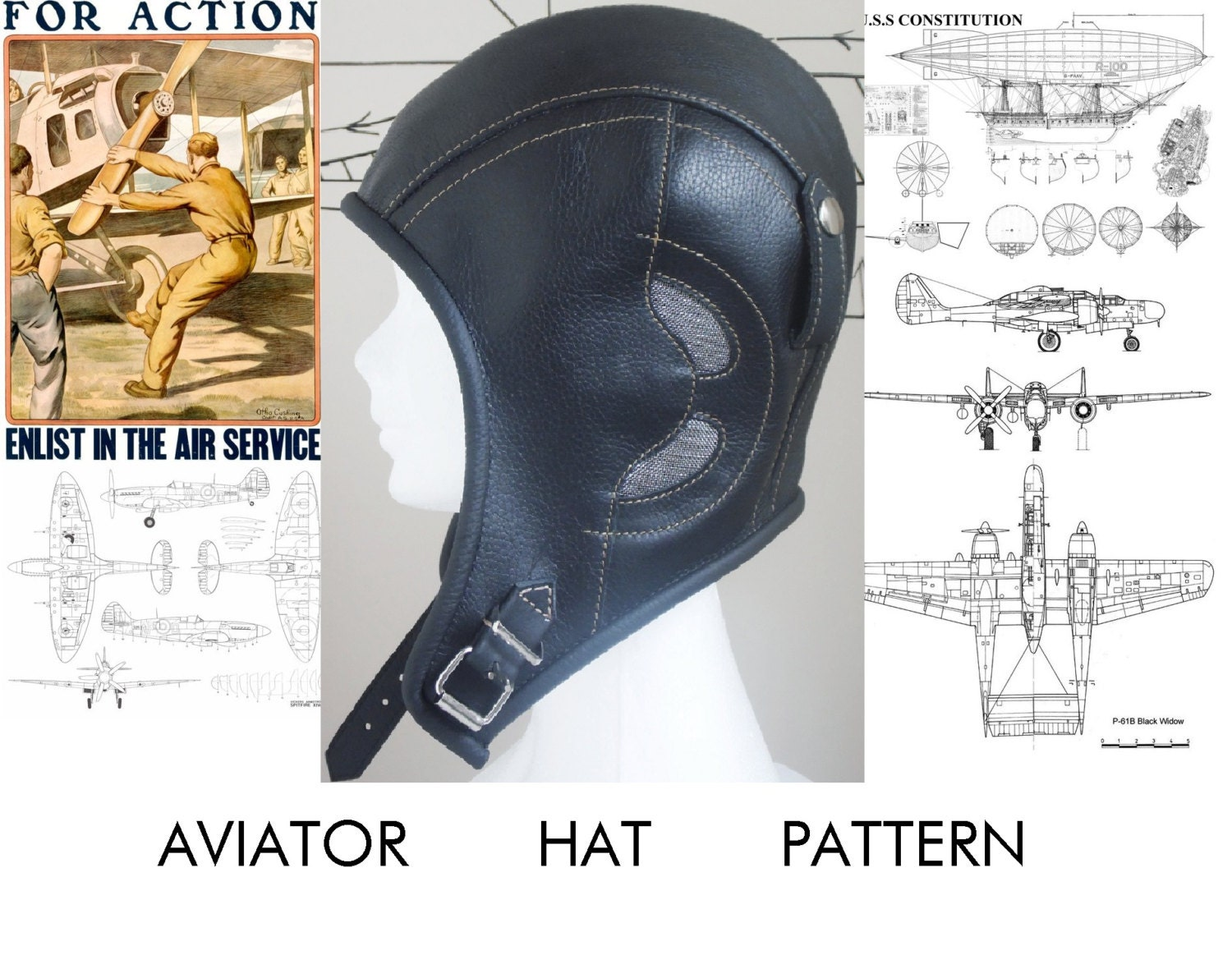 Aviator Hat Pattern By Rzcrafting On Etsy