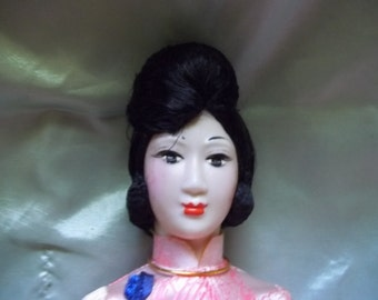 Vintage Souvenir Doll Made In Vietnam Wedding Doll Gift