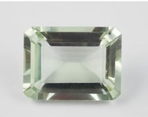 1st Anniversary Sale 1 Piece Natural Green Amethyst Octagon Emerald Cut Loose Gemstone,15x20mm Faceted Rectangle Gemstone,Jewelry Gemstone