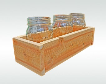 Cedar Herb Planter Box, Indoor Planter Window Box Storage Box Cedar Planter Cedar Box Wooden Box Gift for Gardener Kitchen Decor Herb Garden