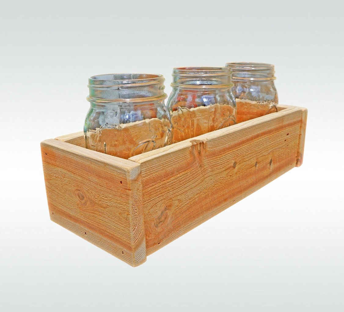 Cedar Herb Planter Box Indoor Planter Window Box Storage Box