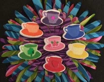 Tea cups , inspired by the teacup ride at Disneyland, Alice in Wonderland