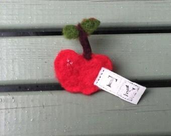Apple brooch - thank you - teacher