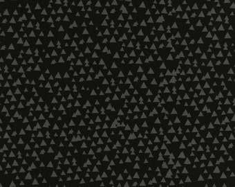 Timeless Treasures Tonal Triangles - Black Quilt Fabric, Black Tonal Triangles Geometric Fabric, Baby Quilt Fabric, Cotton