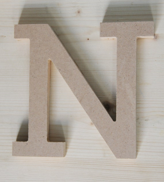 Free standing wooden letter 15cm 6 mdf capital letter for Standing wood letters to paint