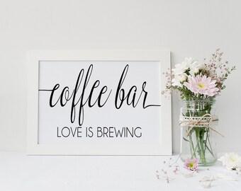 Coffee Bar Signs Diy Printable