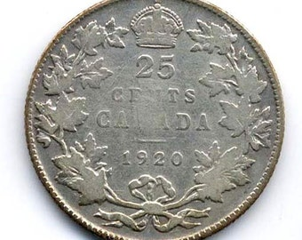 Canadian 25-Cents Silver 1920