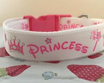 Princess dog collar