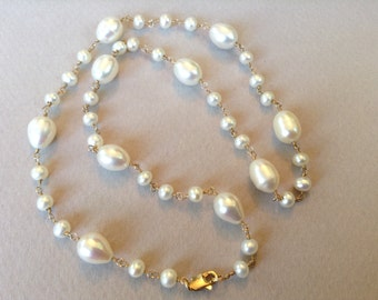 Beautiful 14K Gold Freshwater Pearl Necklace