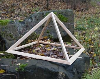Folding Wooden Pyramid