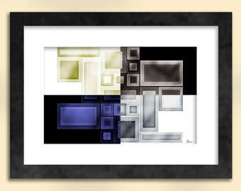 Negative Positive Abstract Art Print