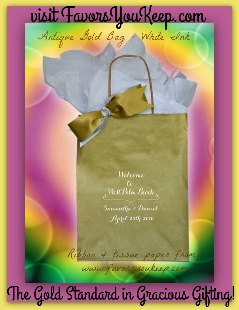 Personalised Wedding Gift Bags Guests : 25 Wedding Welcome Bags Personalized Wedding Guest Gift Bag