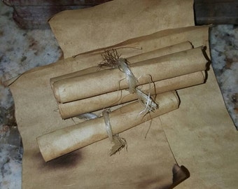 Small -medium large aged partchment scrolls~