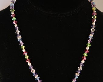 Swarvoski Crystal Necklace with Flower pendant