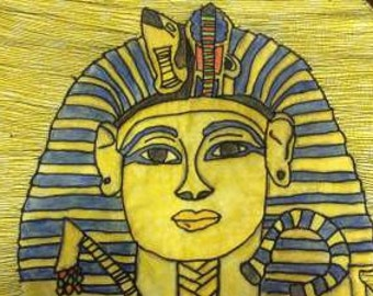 Tutankhamun Quilted Wall Hanging - one off