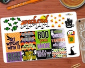 Halloween themed quotes and Decorative Sticker Kit for your Erin Condren Life Planner