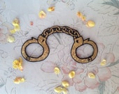 Metallic Gold Handcuff Patch