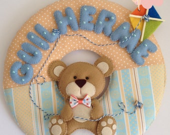 Bear Nursery Wreath-Custom Name