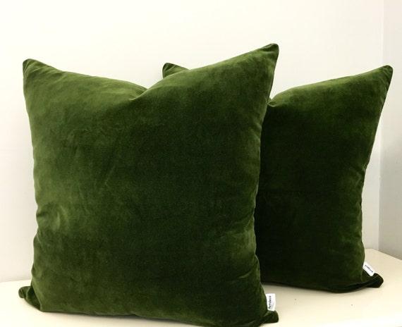 Moss Green Cotton Velvet Pillow Cover Green by artdecopillow : il570xN9955529373fsp from www.etsy.com size 570 x 464 jpeg 32kB