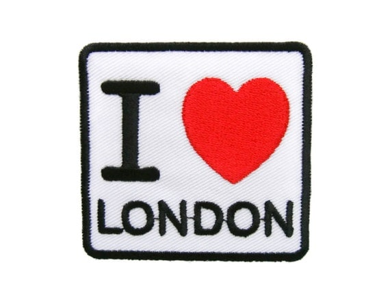 I love london embroidered applique iron on patch from