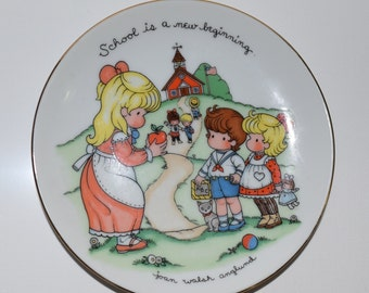 1986 Avon Collectible School Plate by Illustrator Joan Walsh Anglund