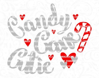 Christmas svg cut files - candy cane svg - candy cane cutie svg -  baby christmas svg - svg cutting file - Christmas svg, commercial use svg