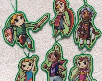 Legend of Zelda Ornaments-Set of 6