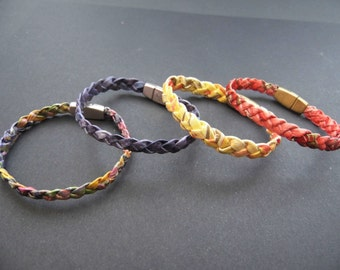 Braided original handmade paper customizable, artisan jewel bracelet