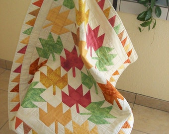 Falling Leaves Quilted Wall Hanging